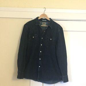 Levi's Denim Western Shirt - Size XL